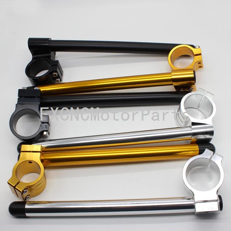 43 MM Oro CNC Clip-On Manillar Manillar Tenedor Un Par Para BUELL M2 Ciclón TODOS LOS Años de La Motocicleta(China (Mainland))