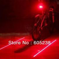 Free Shipping 1Piece Bicycle Laser Lane Marker / Bike Lane Safety Light Rear Light  Free Shipping
