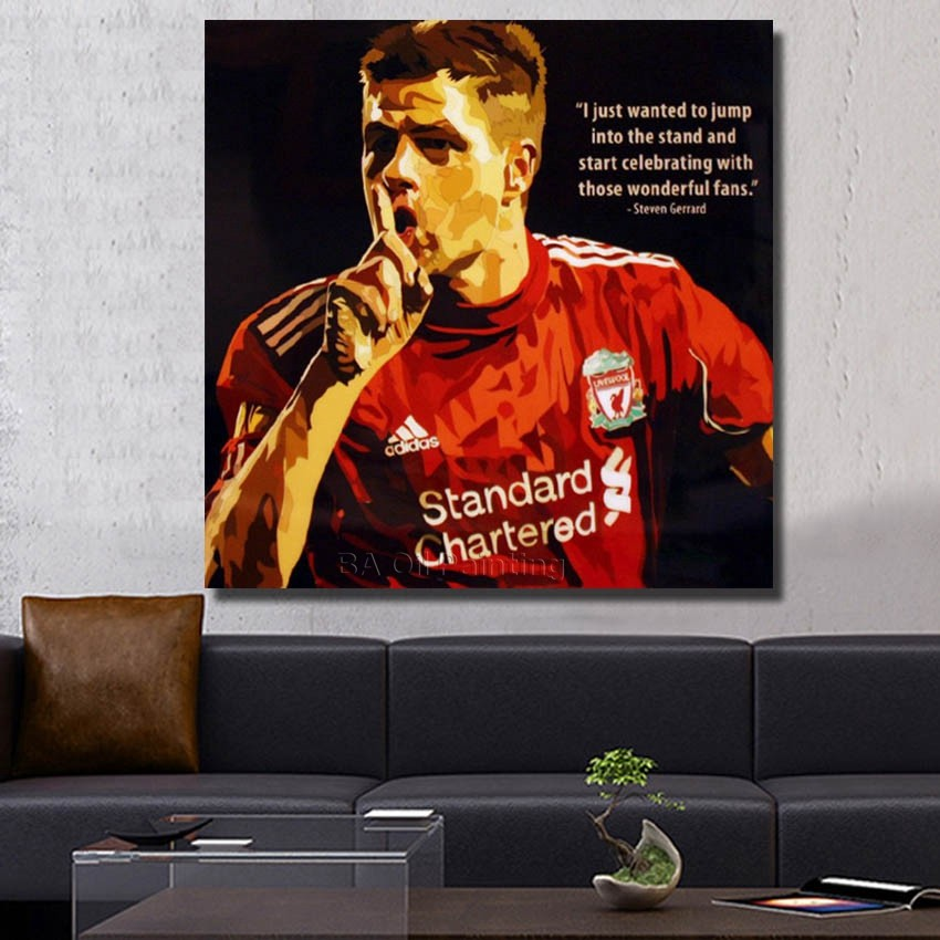 Wall Art Home Robin Van Persie Football Poster Pop Art Hand Painted Canvas Modern Abstract Oil Painting Home Decoration Pictures(China (Mainland))