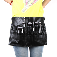 Protable Cosmetic Makeup Brush PVC Apron Bag Artist Belt Strap Professional Make up Bag Holder(China (Mainland))