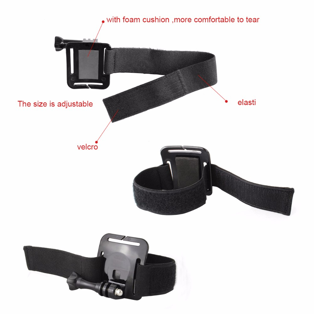 SHOOT Black Wrist Strap for Gopro Hero 5 3 4 Session Xiaomi Yi 4K SJCAM SJ4000 Hand Strap Mount Go Pro Camera Accessory