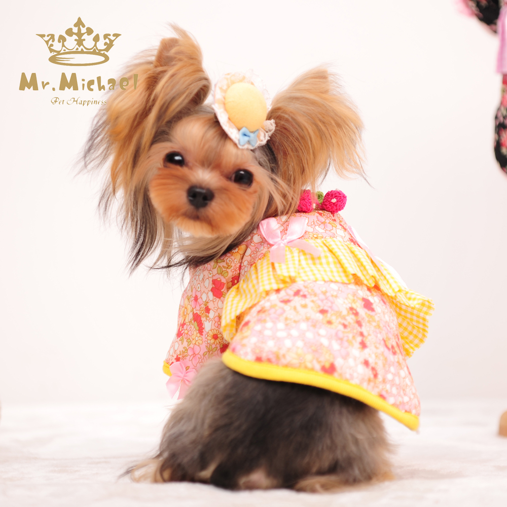 Japanism Kimono Japanese Style Lady Pet Dresses Dog Clothes Clothes for Dogs(China (Mainland))