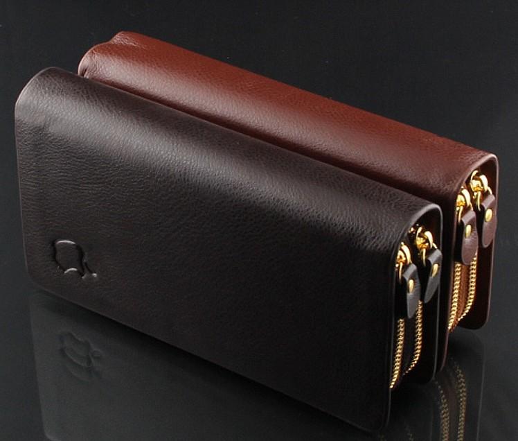 M03 brand handbag genuine leather purse men the fashion clutch men's wallets black coffee colour carteira(China (Mainland))