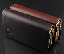 M03 brand handbag genuine leather purse men the fashion clutch men's wallets black coffee colour