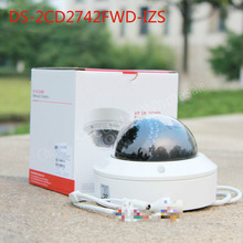 In stock Free shipping english version DS 2CD2742FWD IZS Audio POE 4MP WDR Vari focal Motorized