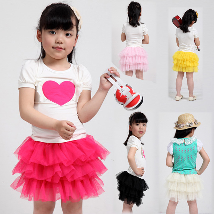 12 Color Fashion Hot Kids Skirt Toddlers Girls Multi Layer Lined Pompon Tutu Skirts ball gown  2 - 6 Years &amp; Free Shipping<br><br>Aliexpress