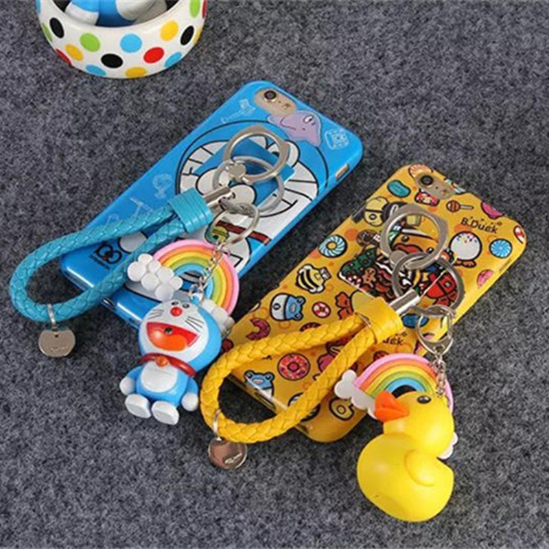 "Doraemon Rubber Duck Cartoon Soft TPU Three piece Case For iPhone 6 6S 4.7"" Back Cover Skin Shell For iPhone 6 Plus 6S Plus 5.5""-in Phone Bags & Cases from Phones & Telecommunications on Aliexpress.com 