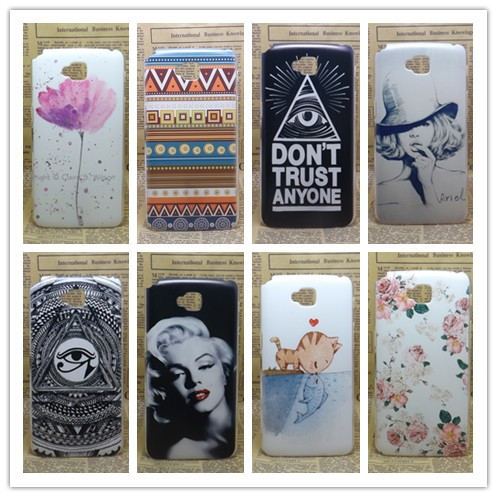 New 2014 transparent side Painting Hard Plastic Phone Case For LG G Pro Lite Dual sim card D686 D685 Skin Cover+Screen protector(China (Mainland))