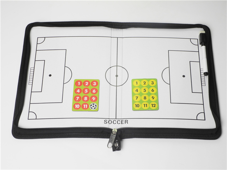Magnetic Soccer Coaching Board Dry Erase Clipboard Coach Match Training Tactical Plate Football Coaching tool Free shipping(China (Mainland))