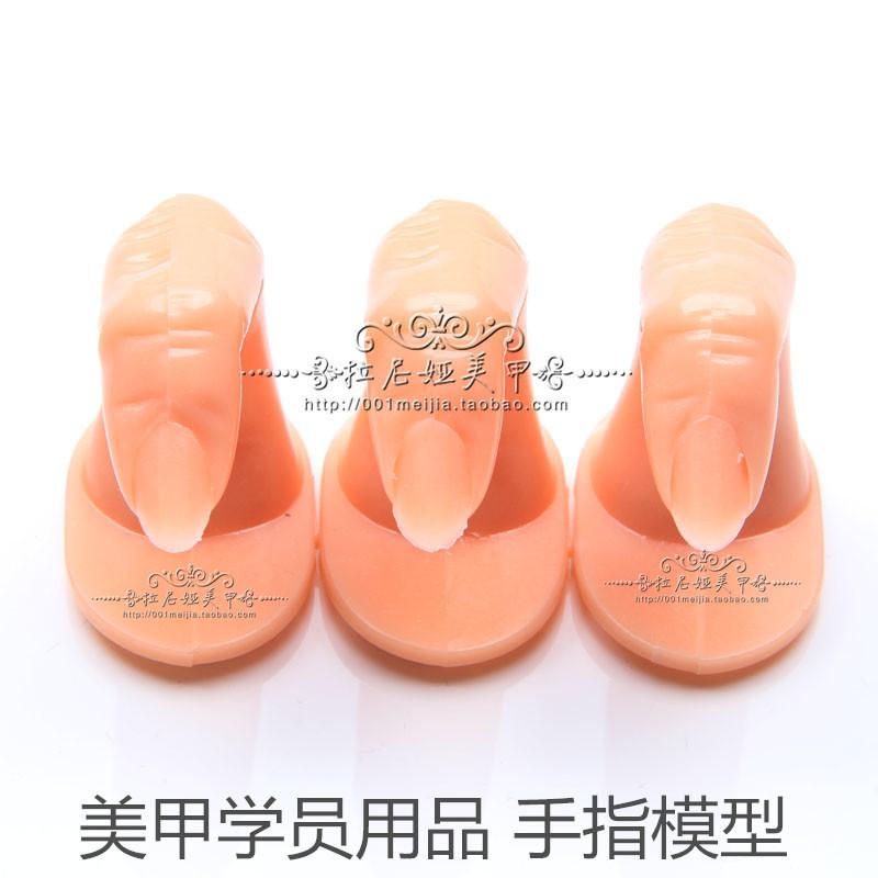 5pcs Acrylic Nail Tips False Fake Nail Art Finger Template UV Gel Nail Polish Training Practice Model(China (Mainland))