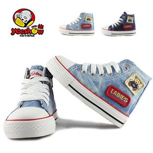 Casual Canvas High Top old navy jeans children shoes for boy/girl(China (Mainland))