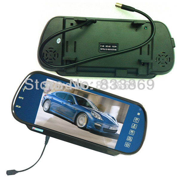 7 Inch Car Rear View Mirror Digital LCD Monitor with Bluetooth / MP5 / USB / SD function(China (Mainland))