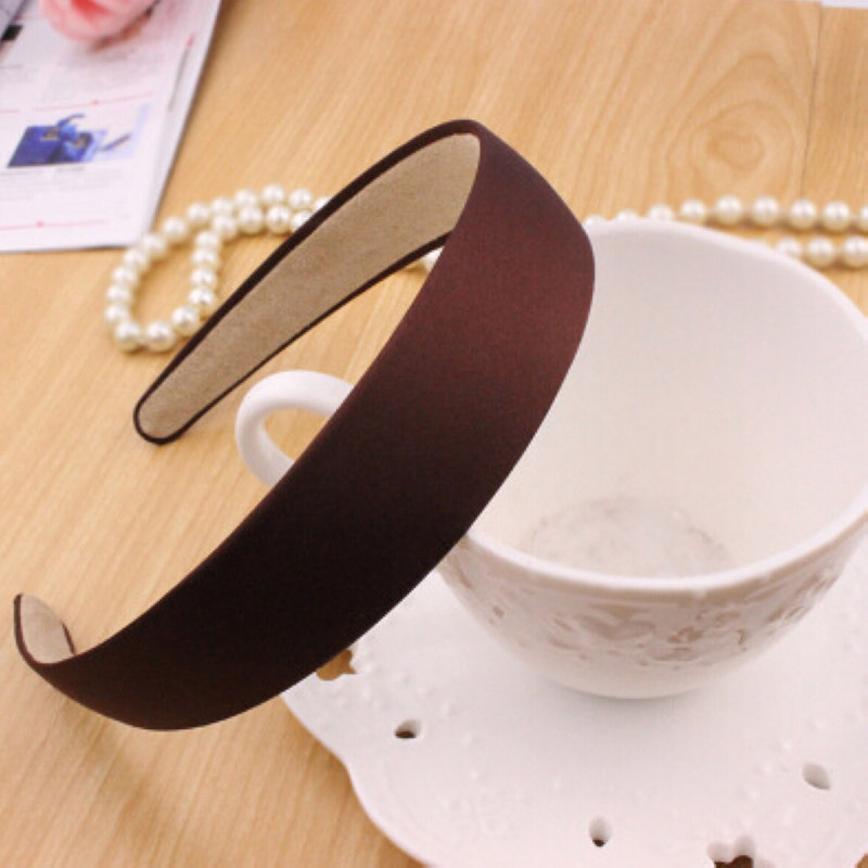 1pc New Women Plain Satin Look Fabric Covered Headband Alice Hair Hairband Head Band Hot Hairbands Accessories(China (Mainland))