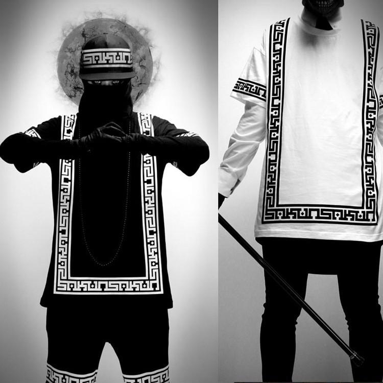 2015 New Mens Badana Shirt Swag Clothes Brand T Shirt Hip Hop T Shirt Pyrex Dancing Bandana Clothing Last Kings Camisetas(China (Mainland))