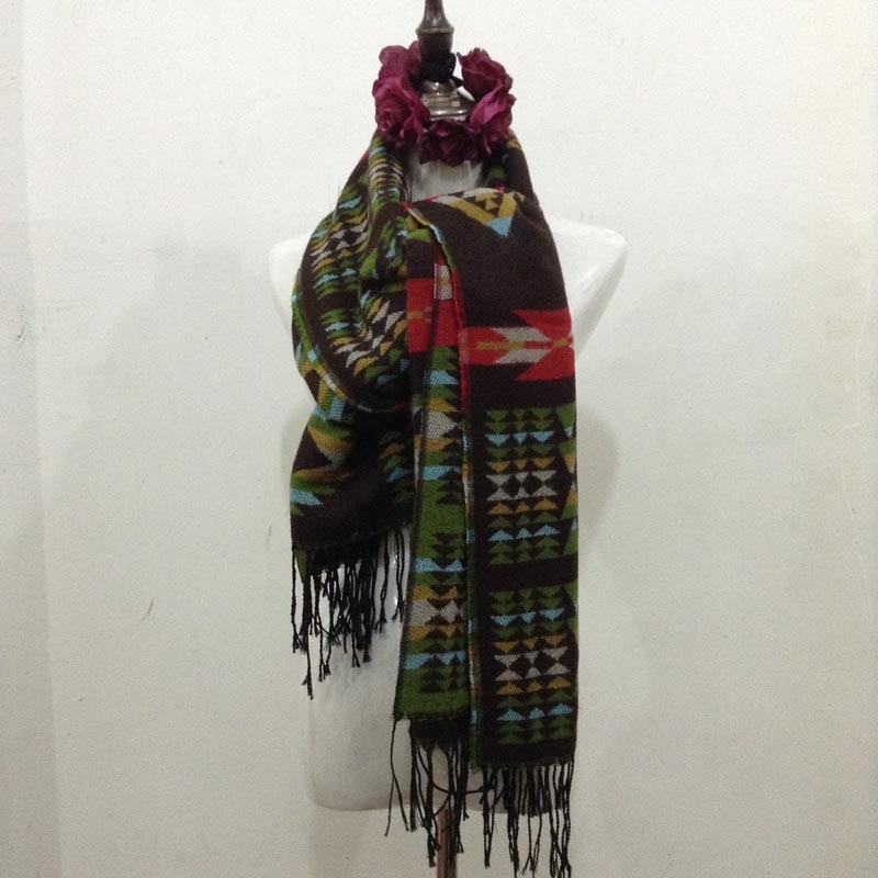 Fashion oversize plaid blanket viscose fringe tassel scarf for women winter wrap cashmere fulares mujer Za scarves pashmina