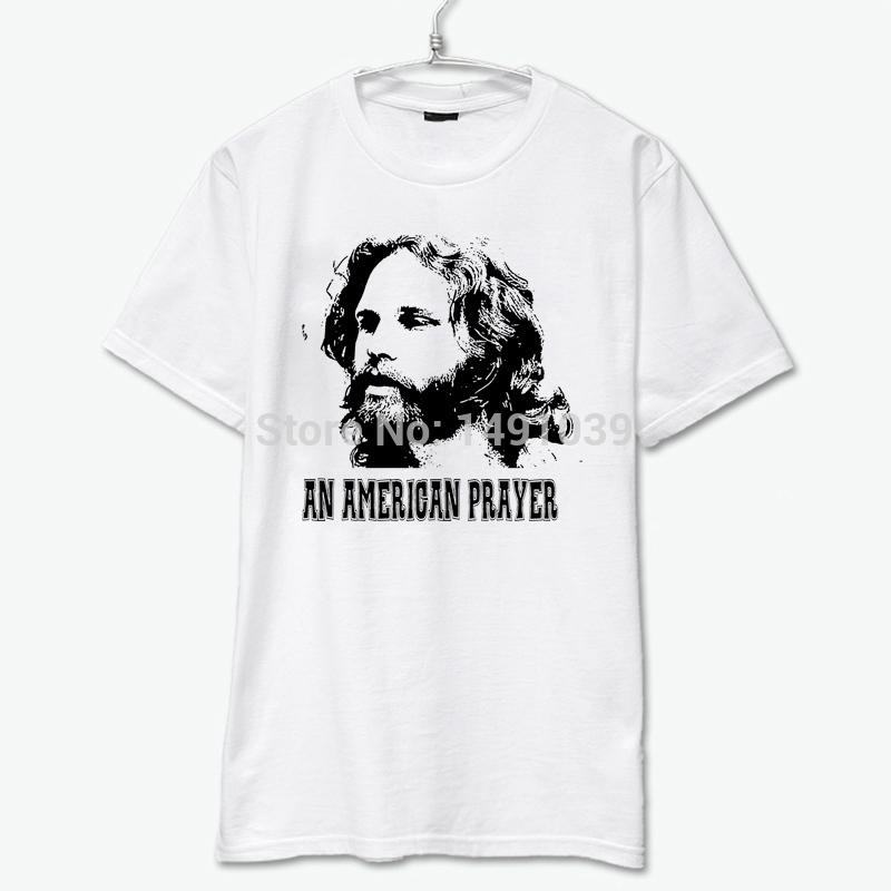 an american prayer beared jim morrison led zeppelin jimi hendrix pink floyd the wall poster printing t shirt(China (Mainland))