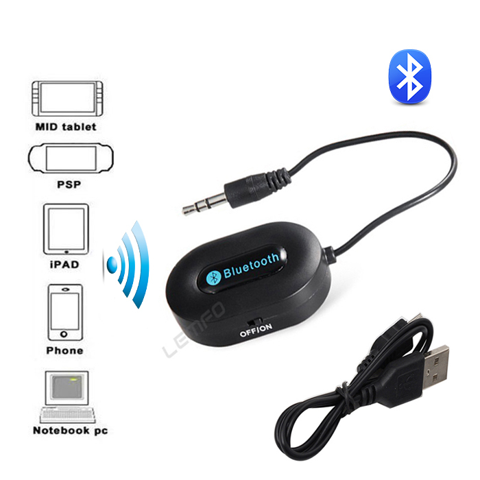 Wireless Bluetooth Audio Transmitter Stereo Music HiFi Receiver Adapter For Speaker Car Tablets PC Home Theatre With 3.5mm Cable(China (Mainland))