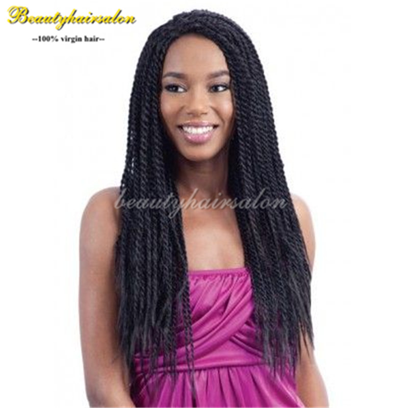 Synthetic Braiding Hair Wig Twist Hand Full Hand Wig Box Braided Lace Front Wigs African American Kinky Twist Braids Hair Wigs