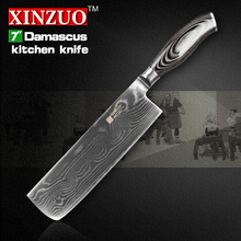 Buy HOT 7 inch kitchen knives 73 layers Japanese VG10 Damascus steel chef knife Japanese woman chef knife wood handle free for $57.20 in AliExpress store