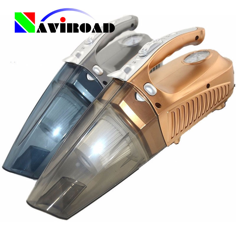 4 IN 1 Large Power Vehicle Vacuum Cleaner Automobile Pneumatic Pump Supplies Portable Wet and Dry Band Pressure Measurement(China (Mainland))