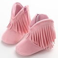 Newborn Baby Girl Boy Kids Solid Fringe Shoes Infant Toddler Soft Soled Anti slip Boots Booties