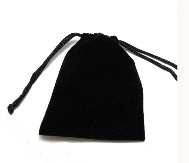 Wholesale 1000pcs Black Velvet Bags Charpie &f lannel & gift & packing bag 100mm x 86mm -FREE SHIPPING