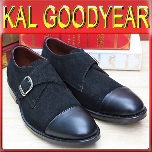 2015 Promotion Man Shoes Goodyear Welted H126 Top Fashion Suede & Real Leather Handmade Bespoke Boss Dress Sneaker Loafers(China (Mainland))