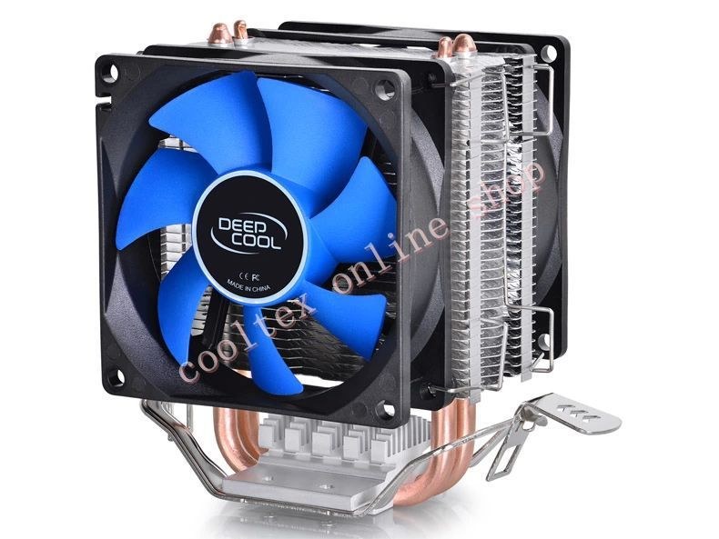 CPU cooler,2pcs 8025 fan, 2 heatpipe, tower side-blown, Intel LGA 775/1155/1156, AMD 754/940/AM2+/AM3/FM1/FM2,CPU radiator,(China (Mainland))