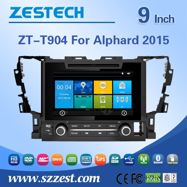 Best selling car accessories for Toyota Alphard 2015 car radio with used auto spare parts/GPS/Radio/Audio/SWC/DTV/ATV/3G/Wifi/BT(China (Mainland))