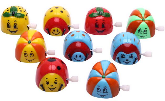 Mini Tumbling Ladybug Beetle Kids Childhood Classic Wind Up Clockwork Toys(China (Mainland))