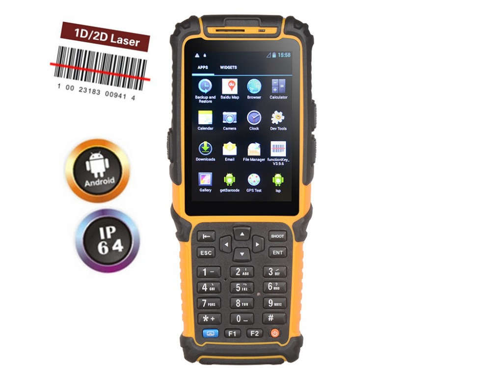 Android bluetooth wifi handheld pos barcode scanner gps 3g data collector TS-901(China (Mainland))
