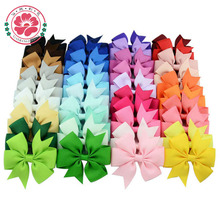 40pcs 40 Colors Baby Grosgrain Ribbon Hair Bows WITH Clip Girls' Boutique PinWheel HairBows Kids Hair Clip Hair Accessories 564(China (Mainland))