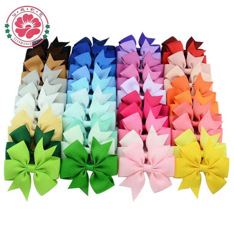 40pcs 40 Colors Baby Grosgrain Ribbon Bows WITH Clip Girls' Boutique PinWheel Hair Clip Kids Hair Accessories 564(China (Mainland))