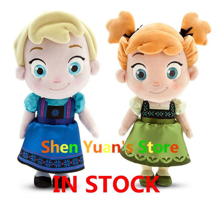 "Гаджет  Toddler Elsa Anna Plush Doll 30cm 11.9"" Princess Doll Toy Plush Toys Brinquedos Kids Dolls for Girls Valentine Day Gift None Игрушки и Хобби"