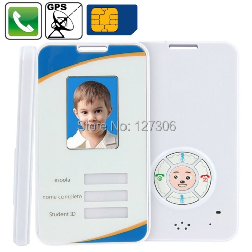 Kid GPS Phone Tracker Pre-set 4 Phone Numbers Online Real Time Tracking Web Free Tracking System SOS Function Smart Card(China (Mainland))