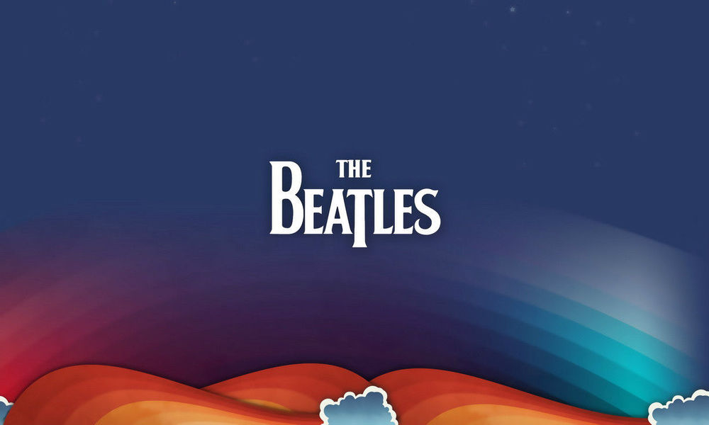 The Beatles Logo Art music rock Huge Wall SILK POSTER 24x40(China (Mainland))