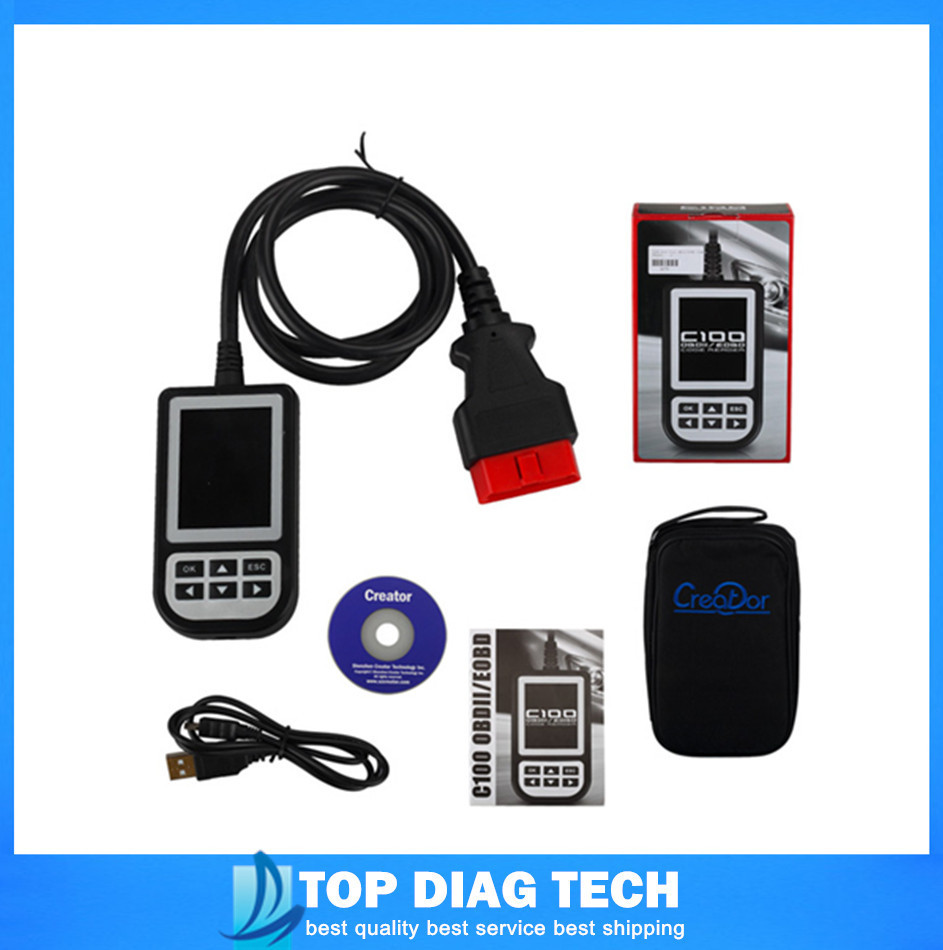 2015 Top Quality V3.7 C100 Auto Scan OBDII/EOBD Code Reader easy to use(China (Mainland))