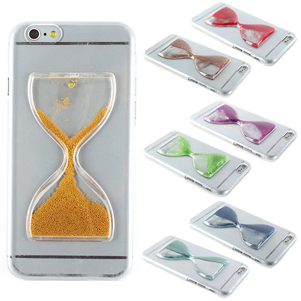 "Funny Crystal Clear 3D Hourglass Hard Cover Case Skin For Apple iPhone 6 4.7""(China (Mainland))"