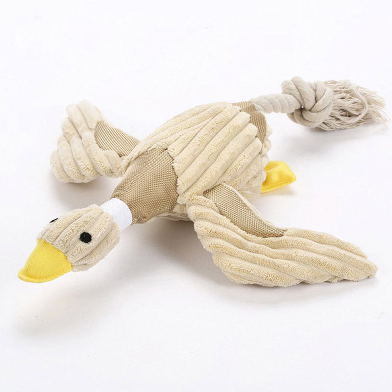 Hot Sale Squeaking Duck Toy for Dogs, Duck shaped pet toy, dog toy Drop Shipping(China (Mainland))