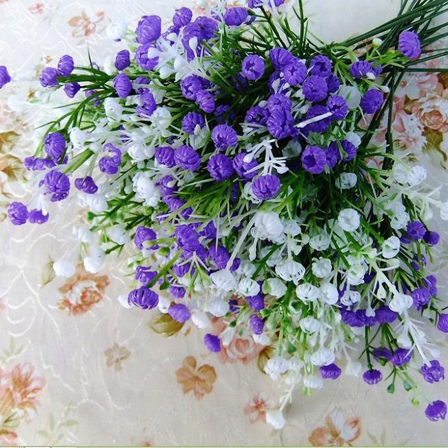 Artificial Baby's Breath Graceful Gypsophila Wedding Flowers Plastic Home Decorative GI671540 - Unique Digital store