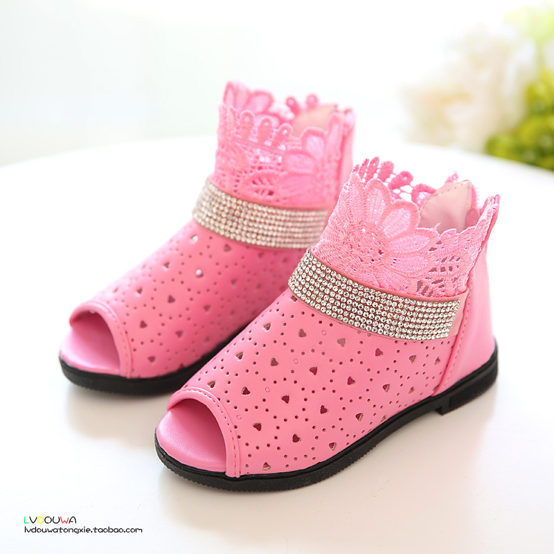 B&amp;D 2016 New Baby Toddler Girl Shoes Summer Princess Sandals Fashion Kids Shoes For Girl PU Shoes Children Girls Flower Sandals <br><br>Aliexpress