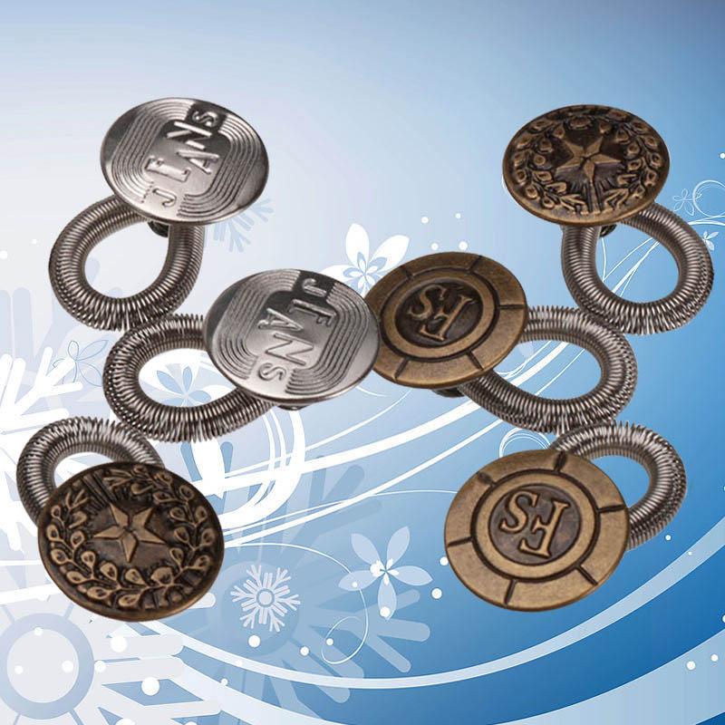 Ultra Excellent Quality 6 PCS Men/Women Pants Fix Expanders Waist Stretch Extender Metal Button Expander(China (Mainland))