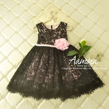 [Aamina] Lace Girls dresses summer 2016, korean style baby girls clothes ,wholesale baby boutique clothing 5 pcs/lot–P2051161