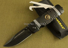 Envío gratis! OEM CHUANGMING 315 cuchillo plegable de rescate de la supervivencia de múltiples funciones con mango de aluminio