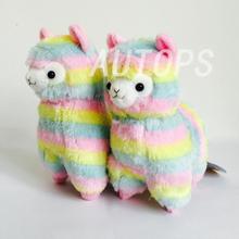17cm  Rainbow 1* Alpaca Vicugna Pacos Plush Toy Japanese Soft Plush Alpacasso Baby Plush Stuffed Animals Alpaca Gifts(China (Mainland))