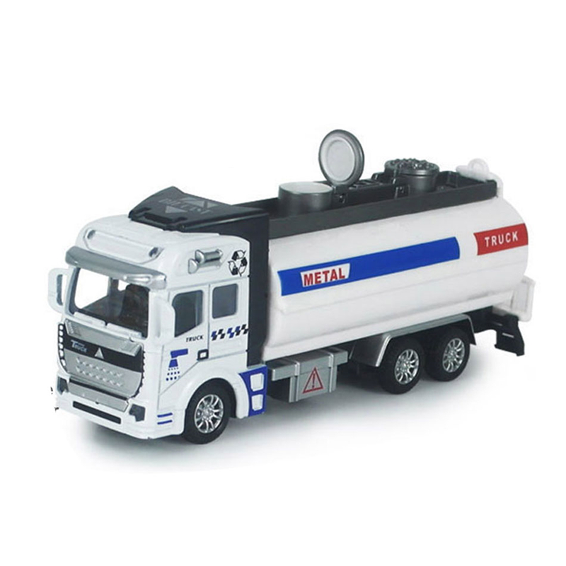 Engineering Vehical Simulation Plastic Alloy Rubbish Truck Sprinkler Car Express Truck Toys For Children Best Gift Diecast Model(China (Mainland))