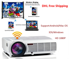 5500lumens Excelvan LED96 Wifi Projector Android 3D Full HD 1080P Home Cinema HDMI USB VGA videoprojecteur Poryector projecteur(China (Mainland))