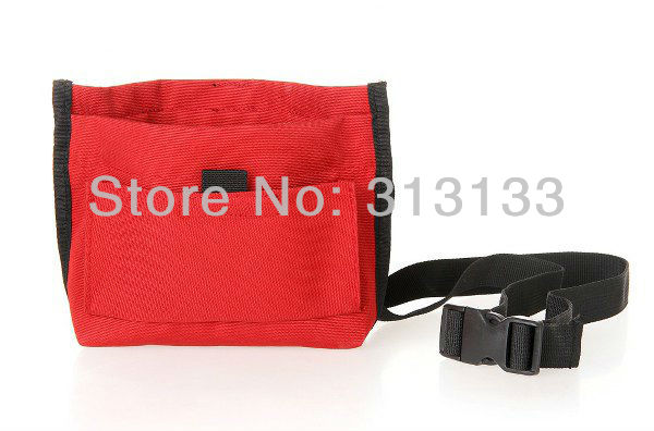 RED Dog Puppy Agility Bait Quick Access Pouch Snap Shut Training Treat Bag Velcro pocket style