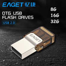 EAGET V9 Official Licensed USB Flash Drive Micro USB OTG 8gb 16gb 32gb  Drive Smart Phone Pen Drive Memory Portable USB2.0 Stick(China (Mainland))