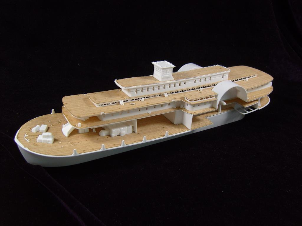 ARTWOX 85-0328's Mississippi paddle steam passenger ship wooden deck AW50001(China (Mainland))